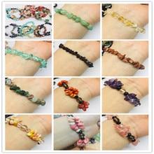 Natural quartz crystals tumbled stones Wealthy healing bracelet make of