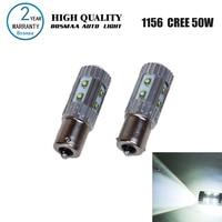 2PCS Hight Power 1156 BA15S 50W with XPE Chips P21W LED Turn Signals Reversing Lam Backup Light Driving Lamp Led Car Bulbs