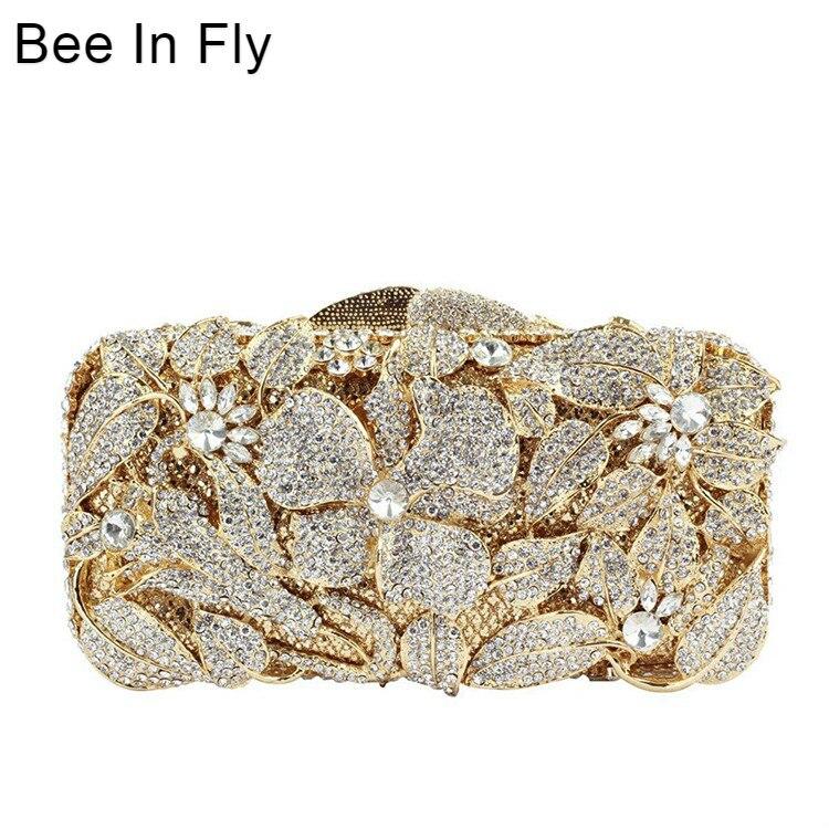 2019 date cristal diamant sac pierres d'or strass fête de mariage embrayage sac de soirée femme bal sac à main de mariée sacs à bandoulière