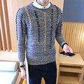 High Quality Pullover Men 2017 New Fashion Round Collar Winter Sweater Men's Brand Slim Fit Pullovers Casual Sweater 4XL Size