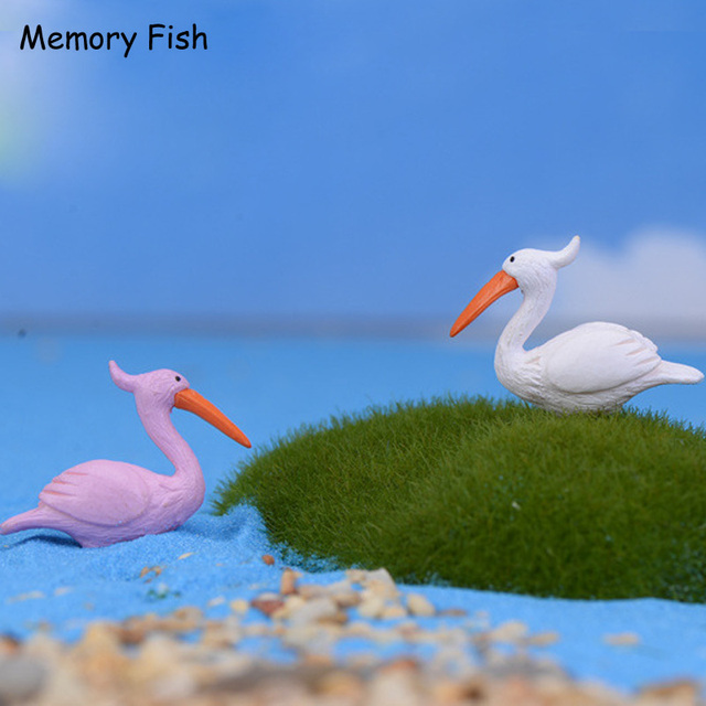 Home micro garden decoration Simulation cartoon flamingo birds  Toys