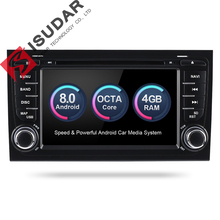 Isudar Car Multimedia Player Car Radio 2 Din GPS Android 8.0.0  Stereo System For Audi/A4/S4 2002-2008 4GB RAM DSP DVR OBD2 FM
