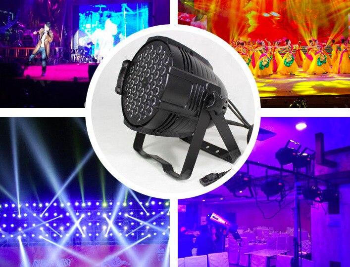 4pcs/lot, LED par 54x3W RGBW / RGB 3in1 Light par64 can rgb stage lighting dmx wedding hand in hand