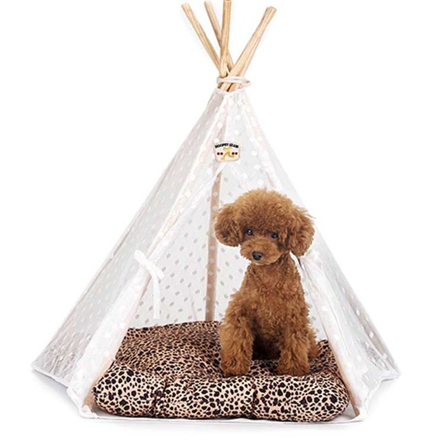 With mat Indian Leopard printed folding Pet dog tent for small dog cat summer wood Dog  sc 1 st  AliExpress.com & With mat Indian Leopard printed folding Pet dog tent for small dog ...
