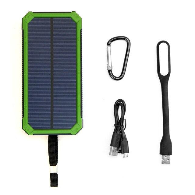 Lampe Pour Avec En Solaire Smartphones Externe Led Plein Batterie Mah Portable 15000 À Air Étanche Panneau Double Chargeur Iphone Usb QrCtxshd