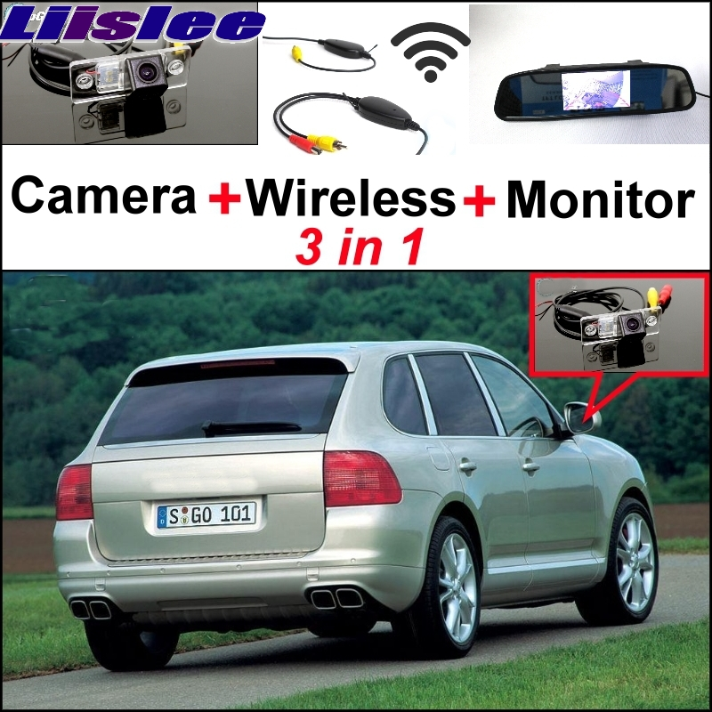 Liislee Special Rear View Wifi Camera Wireless Receiver + Mirror Monitor Easy Parking System For Porsche Cayenne 9PA 955 957 958 liislee special wifi camera wireless receiver mirror monitor parking system for porsche 996 997 991 carrera 911 turbo gt2 gt3
