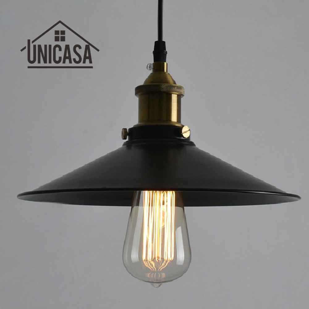 Black Wrought Iron Kitchen Light Fixtures Us 27 41 49 Off Antique Wrought Iron Pendant Lights Black Metal Lighting Fixtures Vintage Industrial Kitchen Island Led Lamp Modern Ceiling Lamp In