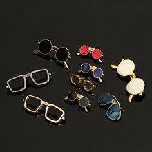 994f52d56 Óculos de Sol Óculos de moda Esmalte Óleo Pins e Broches Terno Dos Homens  da Camisa de Vestido Dos Homens de Colarinho Roupas & .