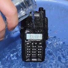 Walkie Talkie Retevis RT6 IP67 A Prueba de Agua Anti-polvo Transceptor 5/3/1 W VHF + UHF 136-174 Mhz 400-520 Mhz cb Radio Portable A9114