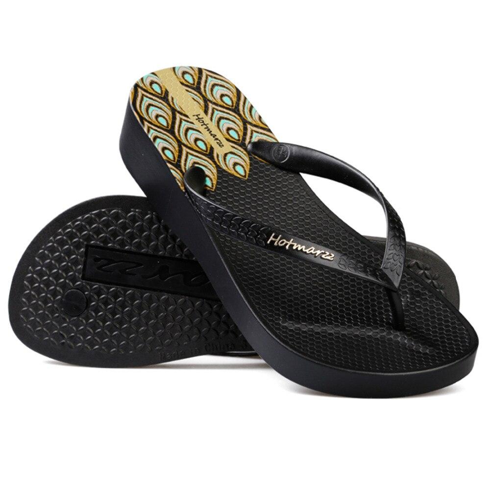 Hotmarzz Mujer Plataforma de tacón alto Chancletas Cuñas Zapatillas - Zapatos de mujer - foto 2