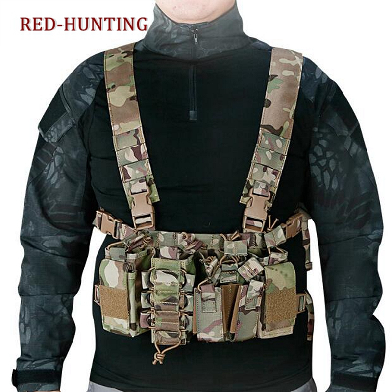 New Outdoor Tactical Chest Rig Airsoft Hunting Vest Molle Pouch Simple Military Tactical Vest with Magazine