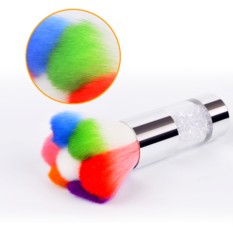 1Pc Colorful Nail Dust Brushes Акрил және УК Ультра - Маникюр - фото 1