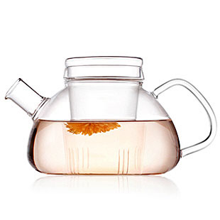 1PC High quality Heat Resistant Glass Teapot with Infuser Filter Home Office Tea Tools Drinkware Flower Tea Pot 750ml JM 1004 in Teapots from Home Garden