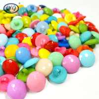 HL 100pcs Round Shank Mix Colors Plastic Buttons DIY Crafts Childrren's Clothing Accessories  Sewing Notions 12MM