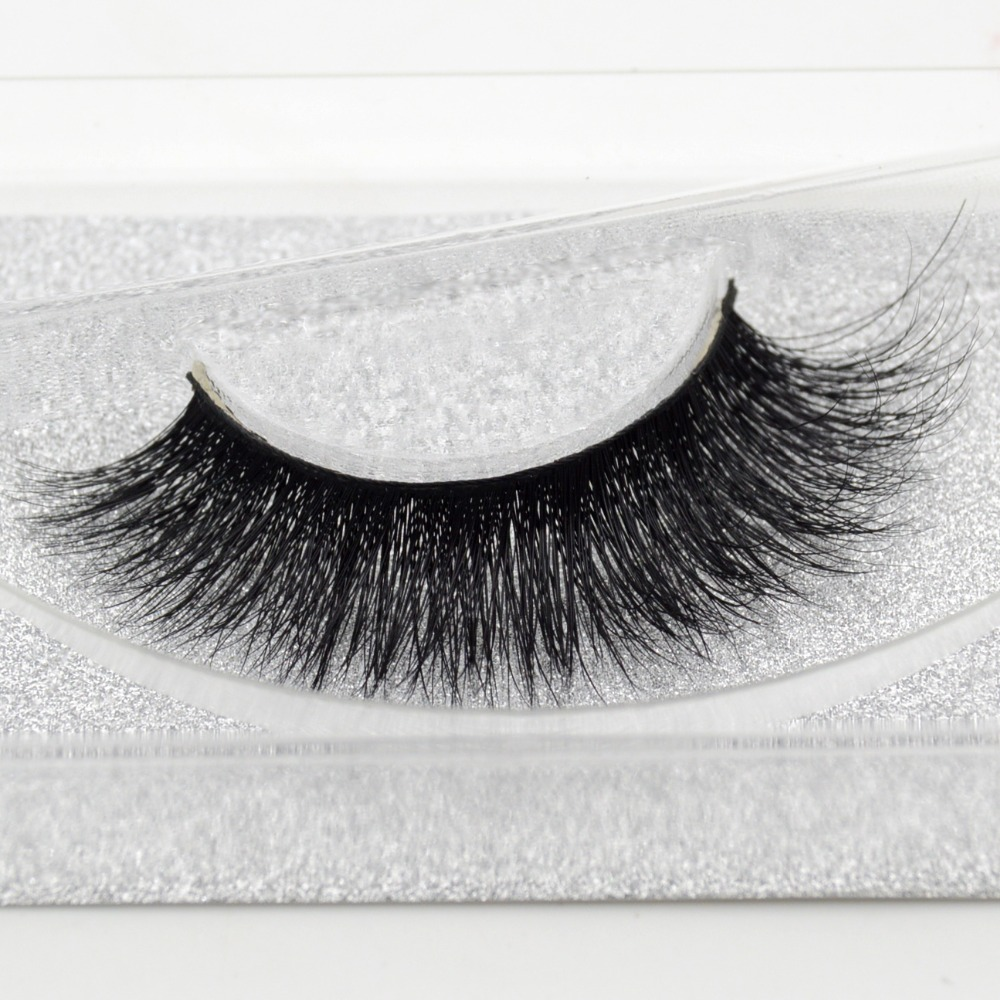 Visofree Mink False Eyelashes Classic Collection Upper Lashes Natural & Lightweight Mink Lashes 1 Pair Glitter Packaging A08