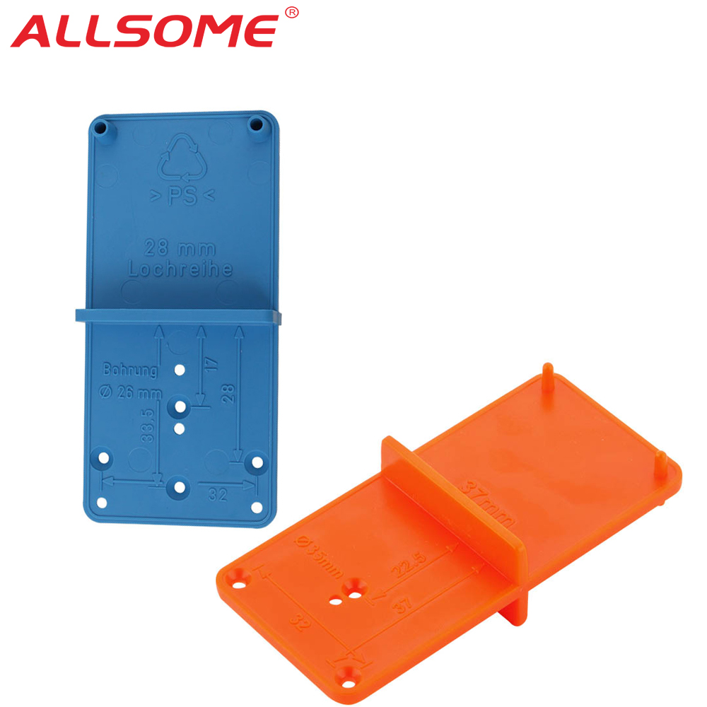 ALLSOME Hinge Hole Drilling Guide Locator Woodworking Tools Hole Opener Template Door Installation Jig Cabinets DIY Tool HT2614+
