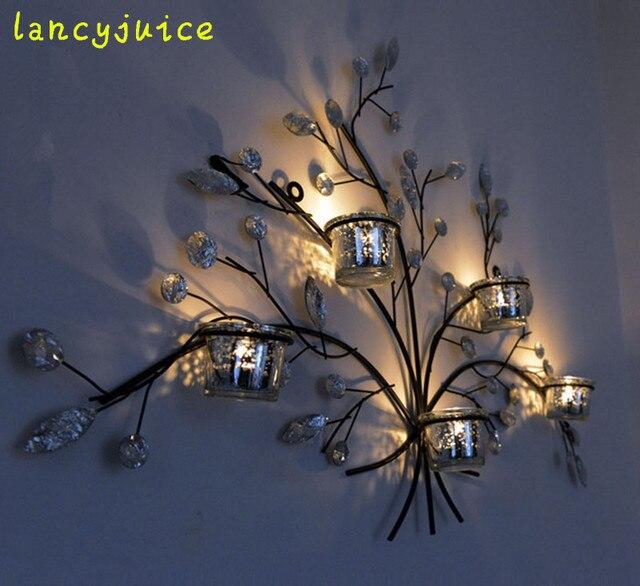 Weihnachtsbaum Kerzenhalter.Us 199 0 Kreative Weihnachtsbaum Kerzenhalter Handgemachte Rustikalen Eisen Form Wind Lampe Wandkunst Kunsthandwerk Zubehör Verschönerung In