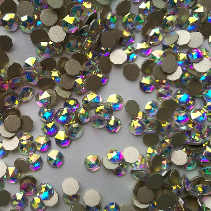 YANRUO 72 հատ 6mm # 2553 Crystal AB 3D Cossip Եղունգների - Մանիկյուր - Լուսանկար 2