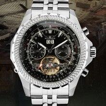Jargar Men's Watch Dress Automatic Brass Skeleton Transparent Gorgeous Wristwatch Color Black JAG070M4S2