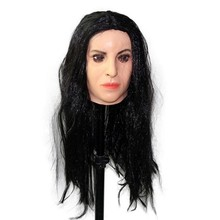 Halloween Latex Realistic Woman Face Crossdressing Sissy Monica Female Mask