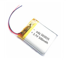 1/2 шт 503035 3,7 V 500mAh литий-полимерный Батарея 3,7 вольт Li-po ion Lipo Перезаряжаемые батареи для MP3 DVD gps navigationtion