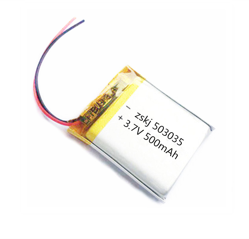 1/2Pcs 503035 3.7V 500mAh Lithium Polymer Battery 3.7V Volt Li po ion Lipo Rechargeable Batteries for MP3 DVD GPS Navigationtion(China)