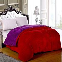 JaneYU 2019 1 Pieces Winter Double sided Fluffy Flannel Flannel Velvet Cover Single And Double Students Duvet Cover