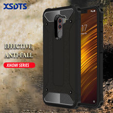 XSDTS Armor Shock Proof Case For Xiaomi MI Play MIX3 MiX 3 Max 2 3 MIX2S 5X 6X A1 A2 POCOPHONE F1 PC TPU Phone Case Cover Coque(China)