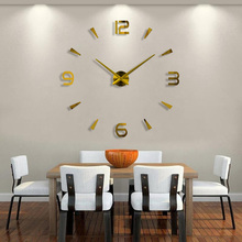 2018 New High Quality 3D Wall Stickers saat Creative Fashion Living Room Clocks Home Decoration Large Wall Clock duvar saat