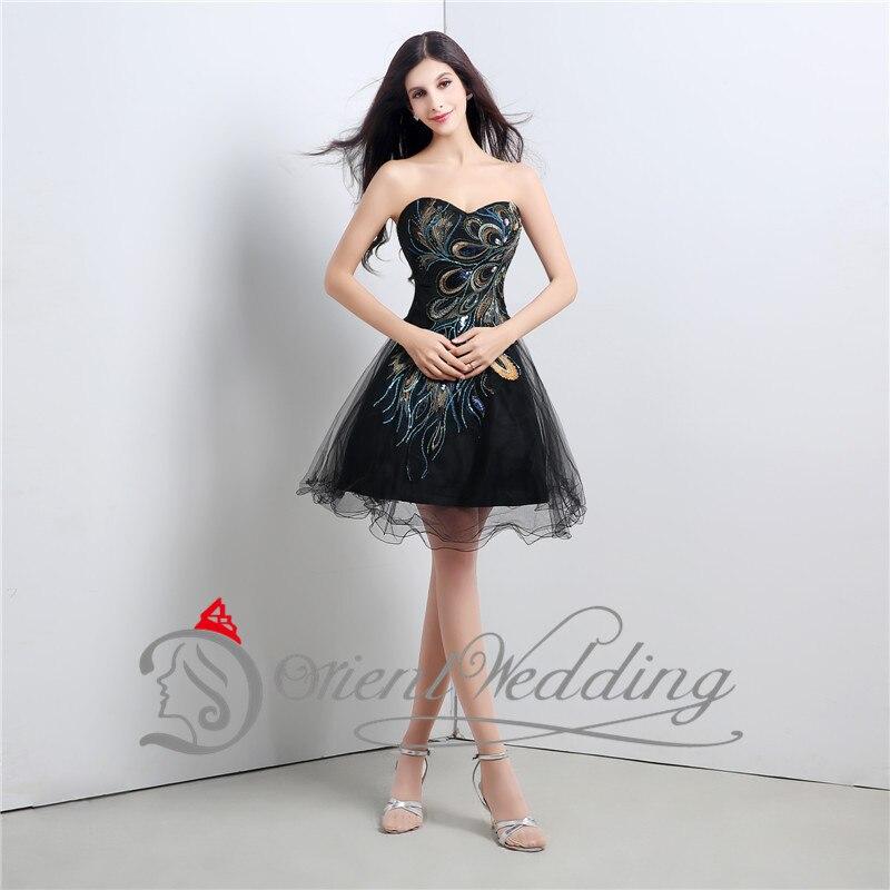 Short black prom dresses with sweetheart neckline