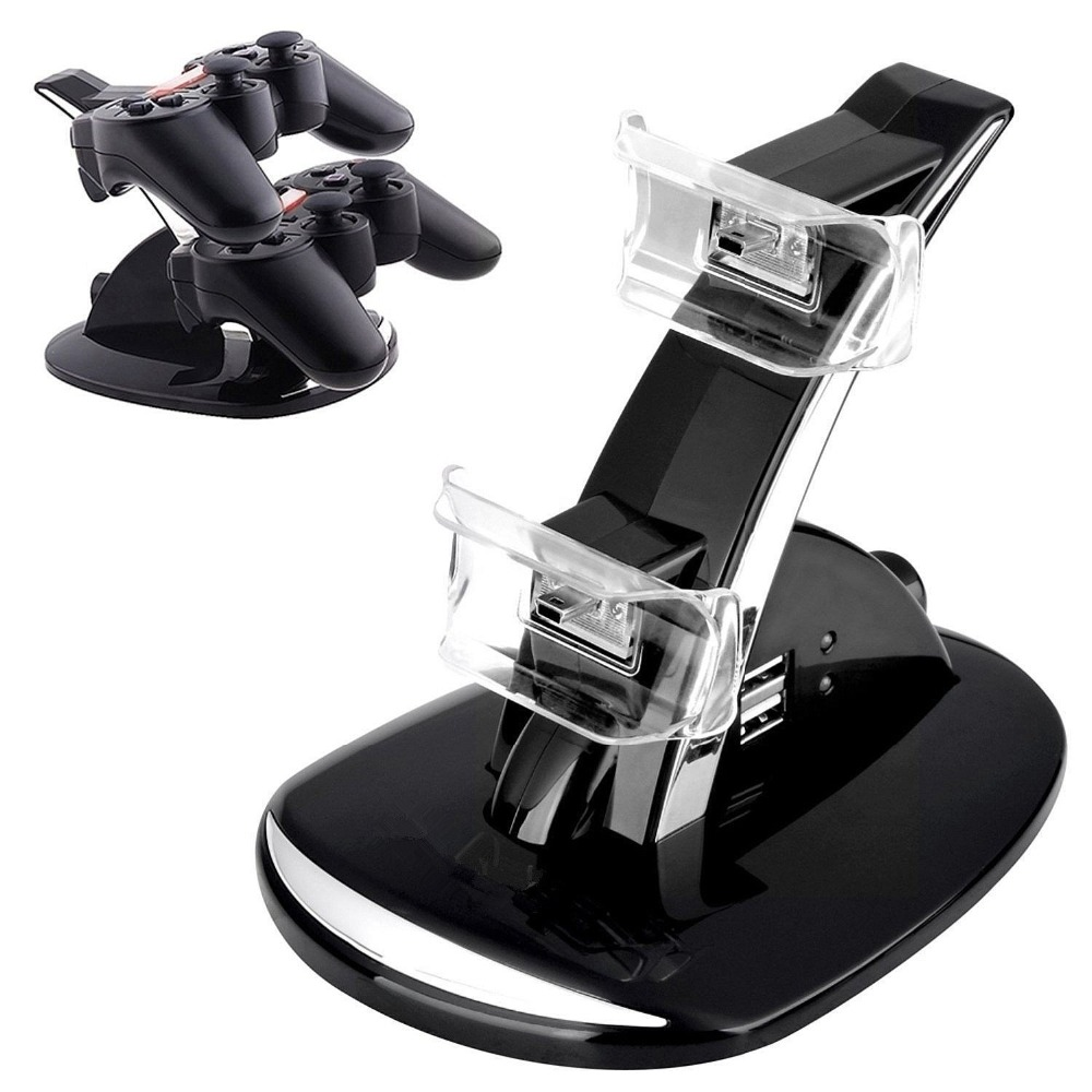 For PS3 Controller LED Light Dual USB Power Charging Dock Station Stand Holder Charger For Sony PlayStation 3 Gamepad Joystick smart watch charger cradle with usb charging cable for huawei watch 1 band power charge dock station magnetic charger for huawei