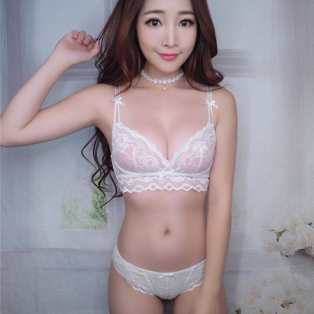 White panties cute in girls posing