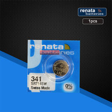 1 pc Renata 1.55 V แบตเตอรี่นาฬิกา 341 SR714SW Silver Oxide Swiss Made E341 S36 RW322(China)