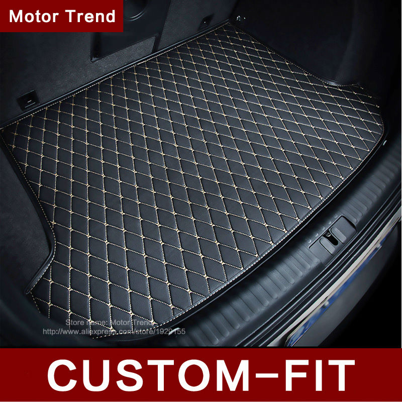ФОТО Custom fit car trunk mat for Hyundai ix25 ix35 SantaFe Sonata  Solaris Tucson verna Veloster 3D car styling carpet cargo liner