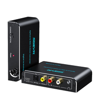 192KHz DAC Audio Converter Digital to Analog Converter with Volume Control Knob Optical to 3.5mm Adapter with optical cable