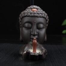 Queimador de incenso em cascata cabeça de Buda (oferta 20 cones de incenso)