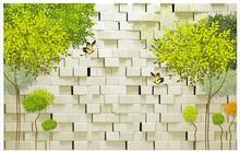 Foto 3D fondo de pantalla personalizado mural de la pared 3d wallpaper moda Puro y fresco y árbol abstracto 3 d TV ajuste pared de ladrillo de la pared papel