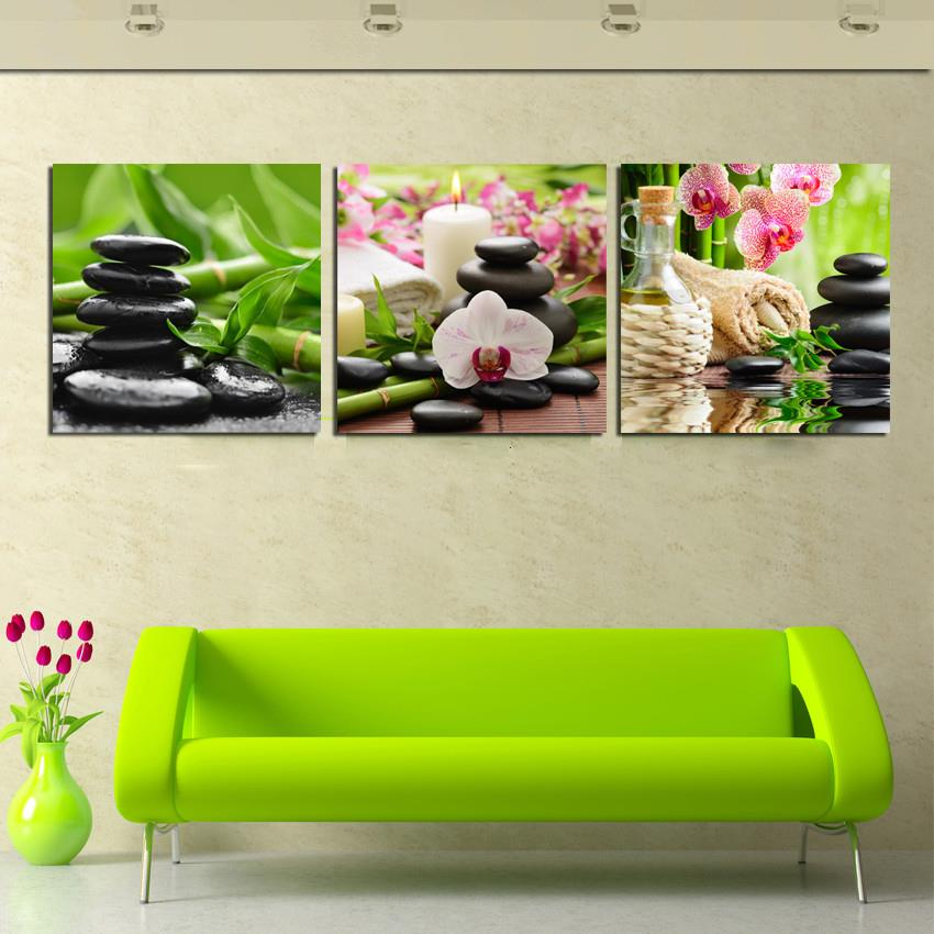 3 Pieces Canvas Wall Art Modern Nature Seeds Painting Flower Home Picture Print On Decor Unframed In Calligraphy From