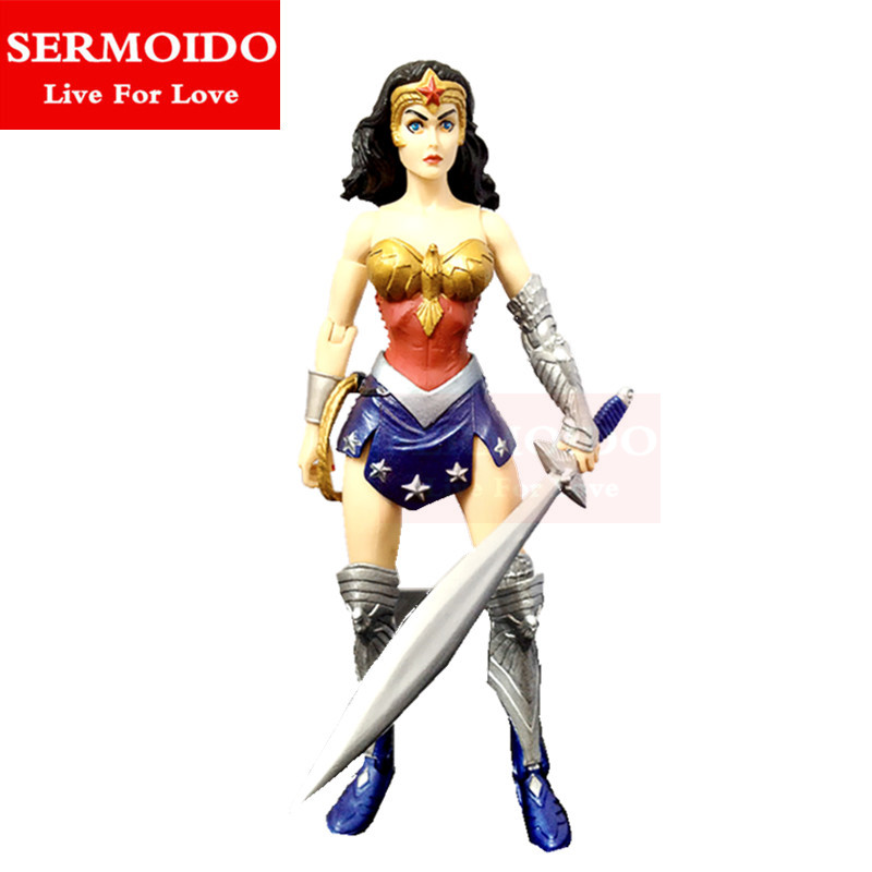 DC Super Hero Girls Wonder Woman 9 Training PVC Action Figure Doll Collectible Model Toy Christmas Gifts A162 to love ru darkness action figure eve sexy swimsuit cartoon children gifts pvc action figure collectible model toy 23cm kt3201