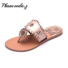 Nuevos 2017 Zapatos de Las Mujeres Flip Flop Sandalias de Moda de Verano Pisos Zapatillas Sólidas Cadenas de bolas de Pelo Estilo Sandalia Plana Envío Libre