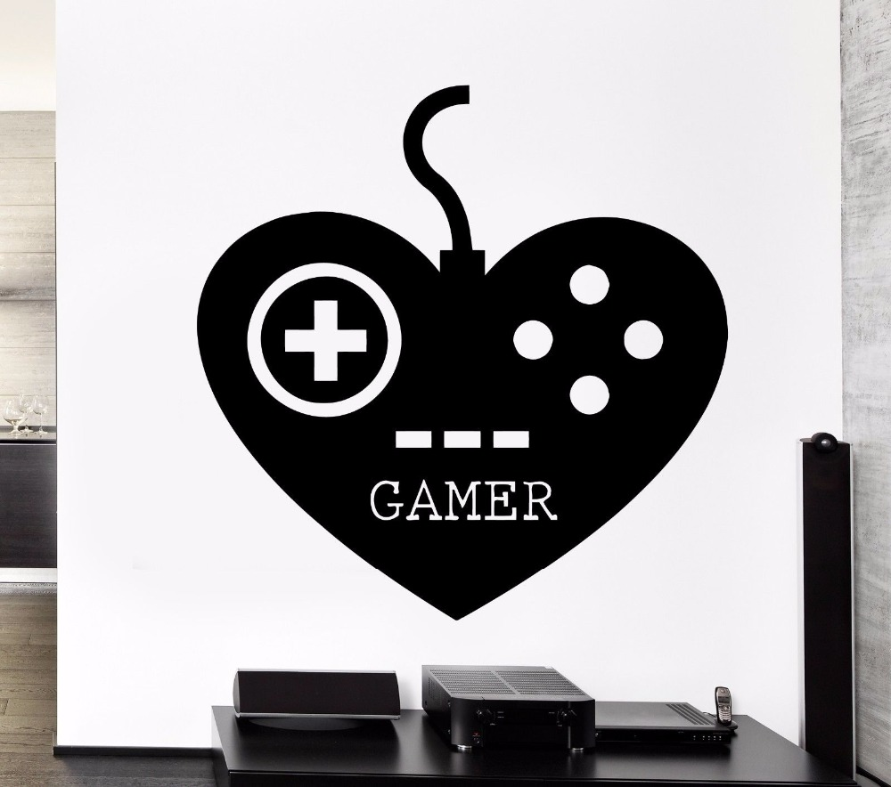 Gamer Wall Stickers Play Room Video Games Kids Room Teen Vinyl Decal Free  Shipping