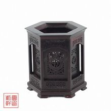 wood carving household act the role ofing is tasted annatto brush pot red sandalwood handicraft furnishing
