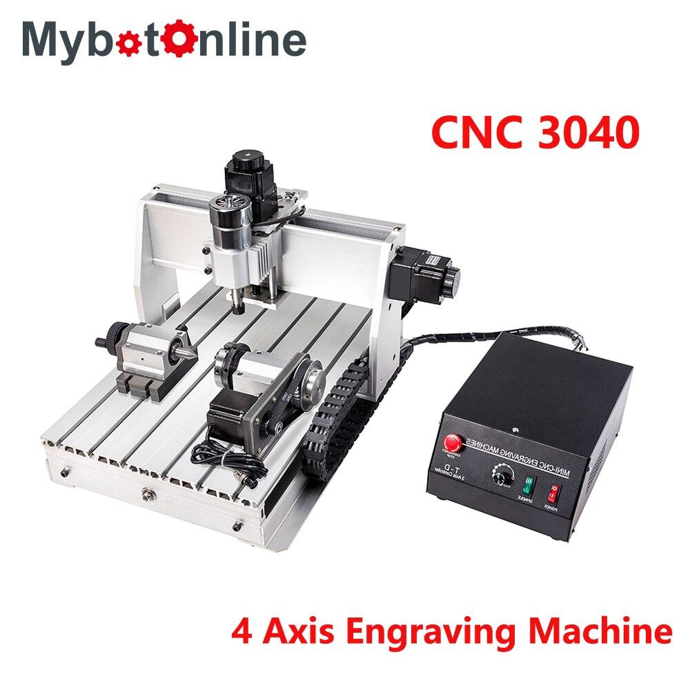 CNC 4 axes CNC Machine de gravure 300 W/800 W/1.5KW 3040 CNC routeur graveur gravure fraisage perçage Machine de découpe