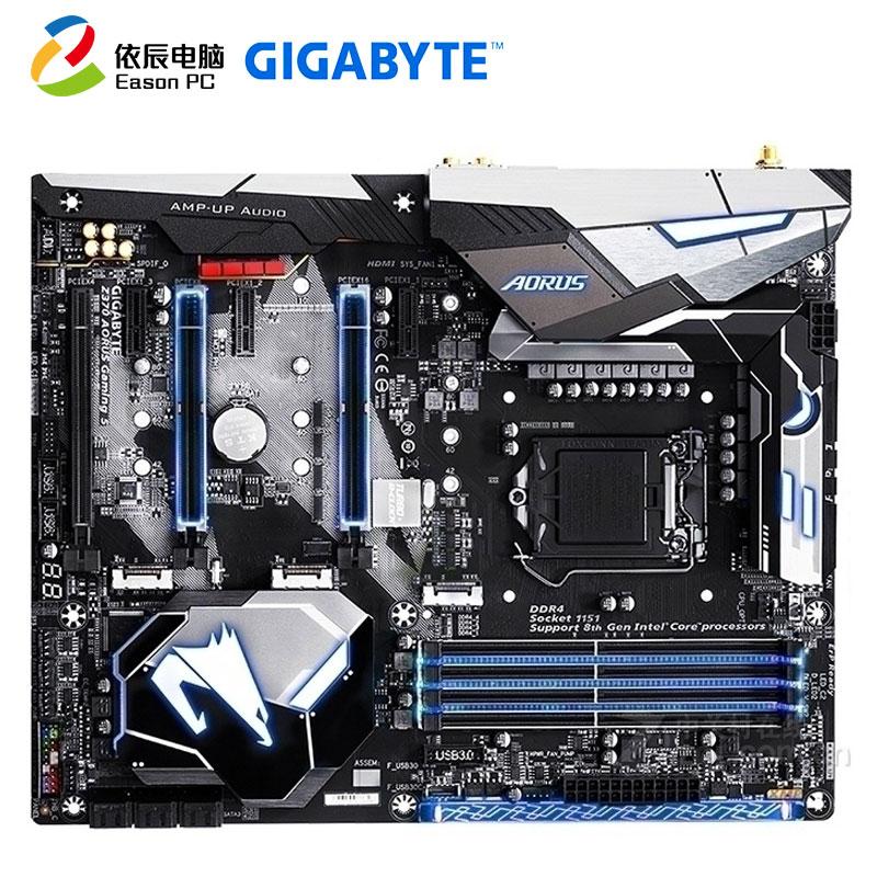 GIGABYTE GA-Z370 AORUS Gaming 5 Desktop Motherboard LGA1151  DDR4 M.2 SATA III 64G ATX