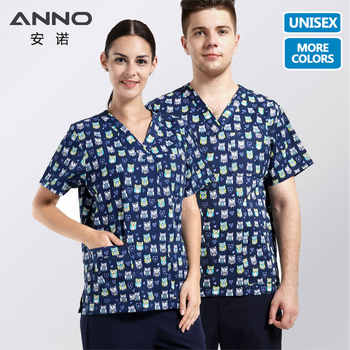 ANNO 5XL Medical Clothes Nurse Uniform With Cartoon Clinical Uniforms Optional Hospital  sdScrubs Set or Tops T Shirt or Pant - DISCOUNT ITEM  15% OFF All Category