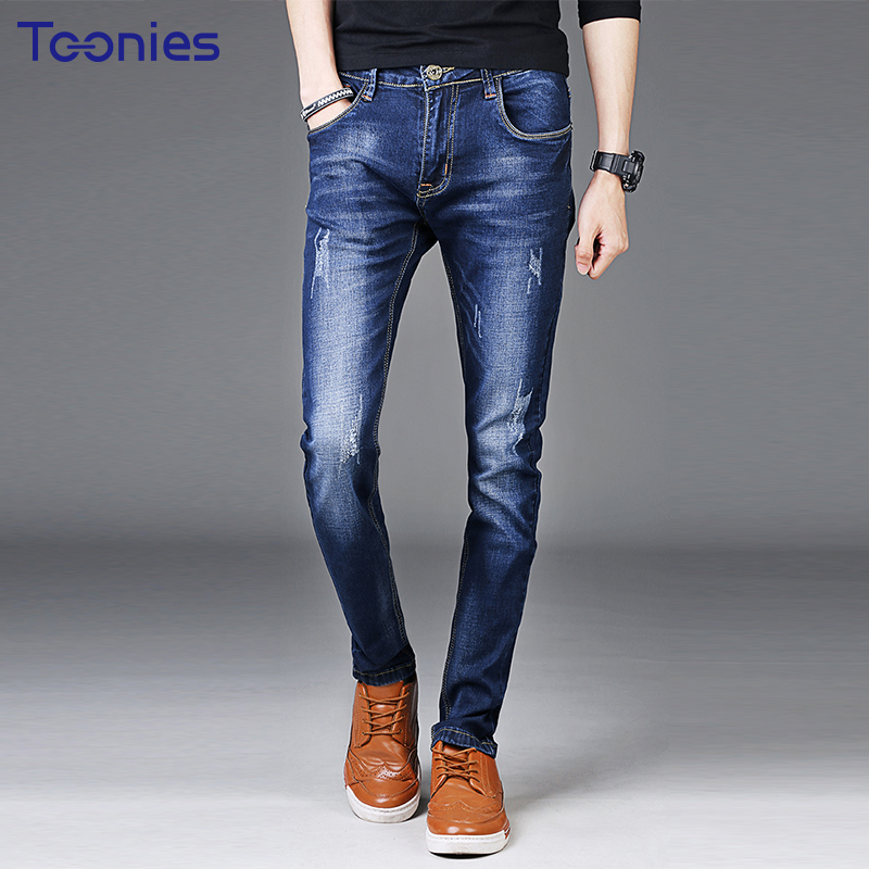 New Fashion Slim Jeans Trousers Male 2017 Summer Autumn Biker Jeans Men Zipper Casual Skinny Jeans Men Pencil Pants Plus Size 2014 new fashion reminisced men vintage trousers casual jeans wash capris pants loose plus size overalls zipper denim jumpsuit