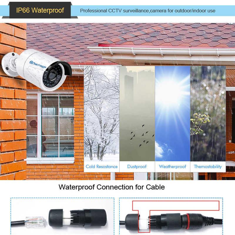 Techage H.265 4MP HD 48 В POE IP камера наружная Водонепроницаемая инфракрасная ночное видение ONVIF CCTV камера видеонаблюдения