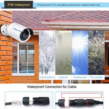 Techage H.265 4MP HD 48V POE IP Camera Outdoor Waterproof Infrared Night Vision ONVIF CCTV Security Video Surveillance Camera