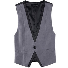 New Man ma3 jia3 Men's Clothing British Style Slim Masculino Cotton one button Sleeveless Jacket Waistcoat Men Suit Vest