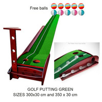 Indoor Golf putting green solid wood bottom Golf putting trainer practice Golf training aid